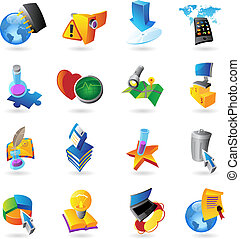 Icons for technology and computer interface. Vector ...