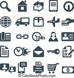 Icons for the web site or mobile app. File in EPS10 format, that can be scaled to any size without loss of quality.