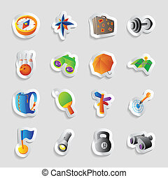 Icons for travel and leisure - Icons for travel, sport and...