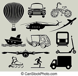 Icons for various means of transpor