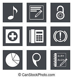 Icons for Web Design set 36