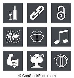 Icons for Web Design set 48