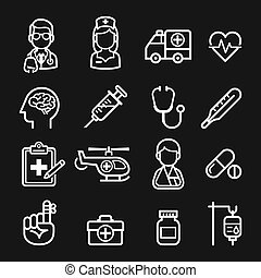 icons., geneeskunde, gezondheid