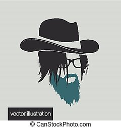 icon hairstyles beard and mustache hipster full face