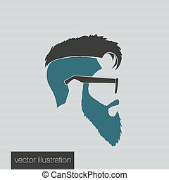 icons hairstyles beard