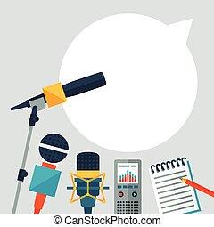icons., hintergrund, journalismus