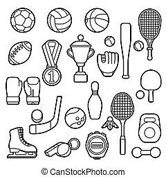 icons., komplet, sport