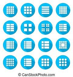 Icons menu list, vector