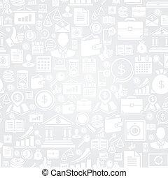 icons., modello, seamless, affari
