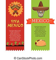 icons music food mexican design