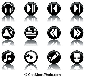 icons - music set 2 - a set of musical themed icons