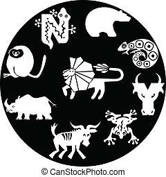 icons of animals