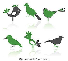 Icons of birds