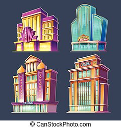 Icons of casino buildings