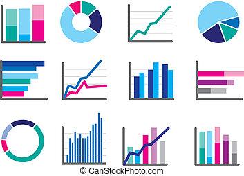 modern symbols respresenting type of graph