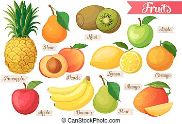 Icons of fruit.