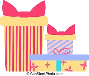 icons of gift boxes