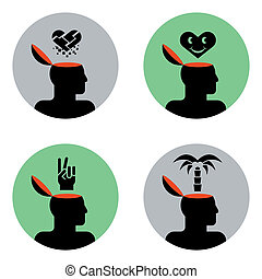 icons of head