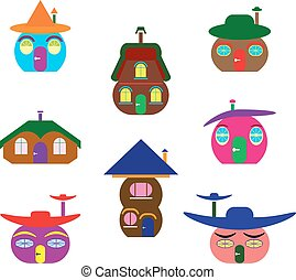 Icons of houses similar to pumpkin.