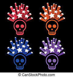 icons of human skull