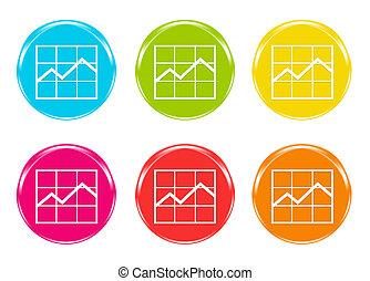 Icons of statistics graphic