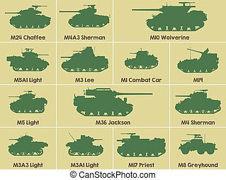 Icons of US tanks