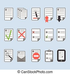 Icons office documents