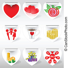 icons on stickers