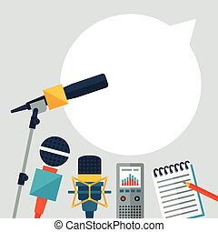 icons., plano de fondo, periodismo
