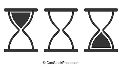 icons., sandglass, icon., 砂時計, ベクトル, セット