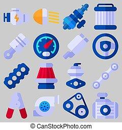 icons set about Car Engine . [keyword Random:3]