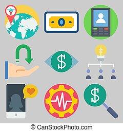 icons set about Marketing . [keyword Random:3]