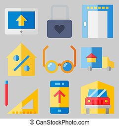 icons set about Real Assets . [keyword Random:3]