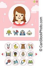 icons set baby icon