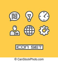 Icons set business office