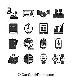 Icons set business technology vector design.