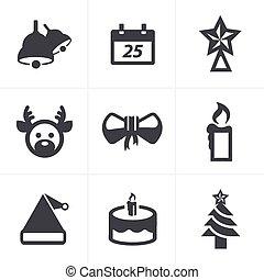 Icons set Christmas, Vector Design