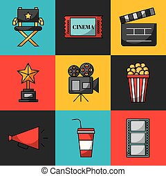 icons set cinema