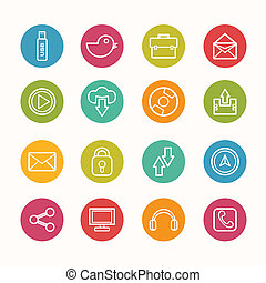 icons set Circle Series - eps.10