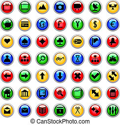 icons set - Collection of different icons for using in web...