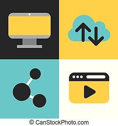 icons set computing