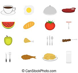 Icons set food