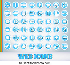 Icons Set for Web Applications - Blue Edition