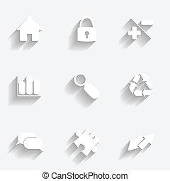 Icons set gray