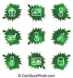 Icons set. Green hole