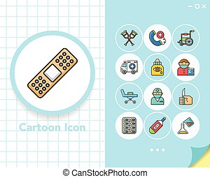 icons set hospital vector