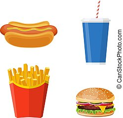 Group of Fast Food products