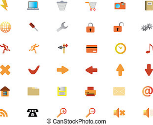 icons set - New collection of different icons for using in ...