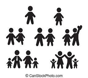 Icons set people