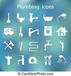 Icons set Plumbing